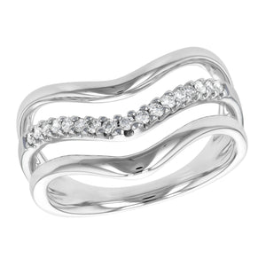 Diamond Triple Chevron Ring