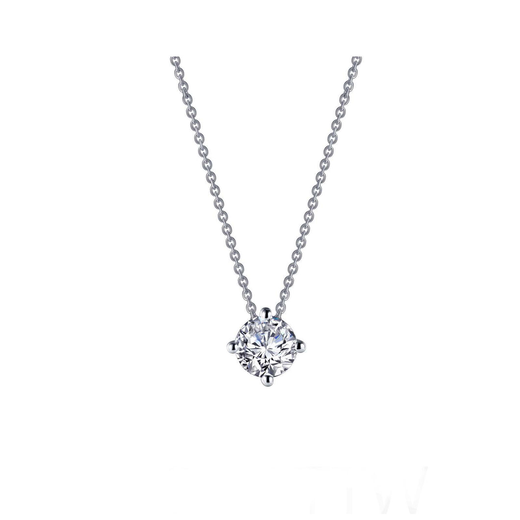 1.1 CTW Solitaire Necklace