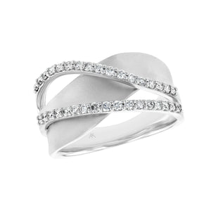 Free Form Diamond Ring