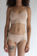 Low Rise Lace Brief in Solid Light Pink Color
