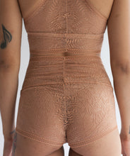Sheer Bralette with Double Triangle Racerback in Terracotta Fern Print Lace