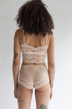 Low Rise Lace Brief in Sheer Rose Quartz Pastel Pink Color
