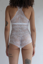 High Waist Lace Panties in Sheer White Abstract Color