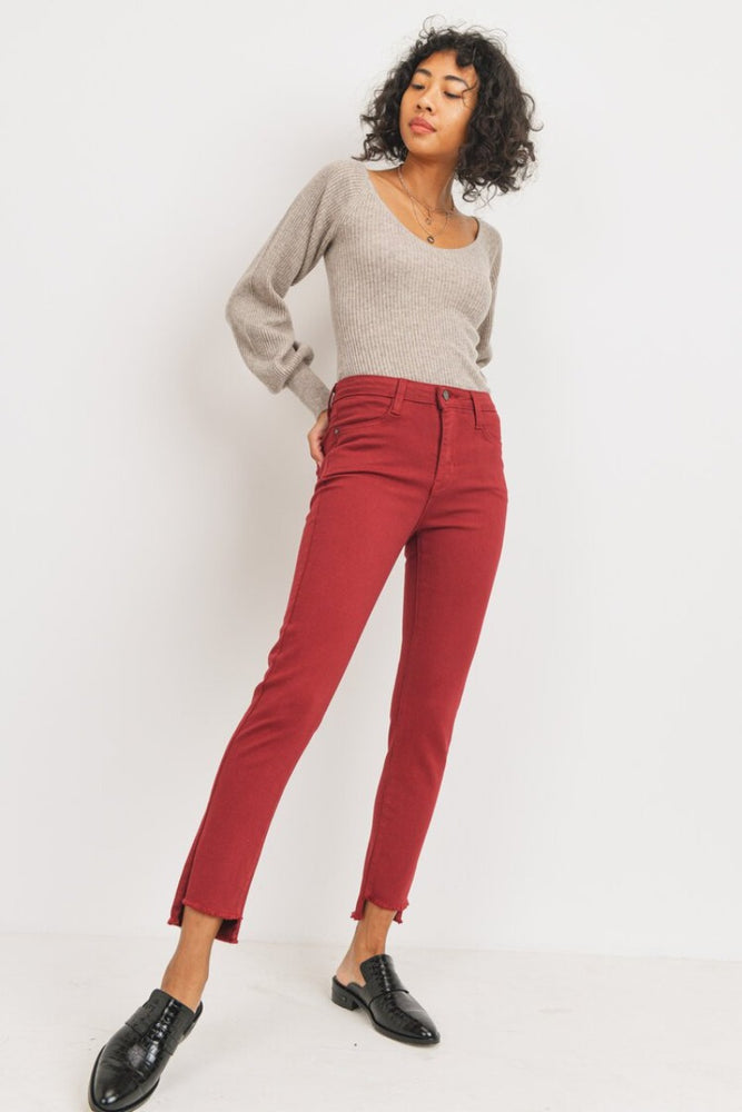 The Step Hem Skinny | Ruby Red
