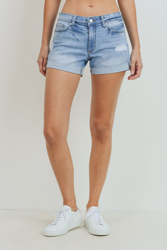 High Rise Short with Single Cuff