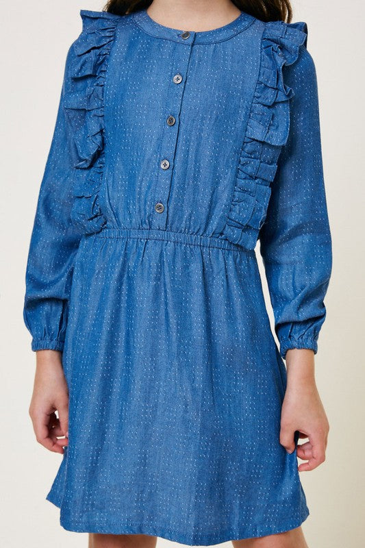 Denim Button Down Dress