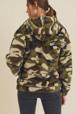 Camo Teddy Sherpa Jacket