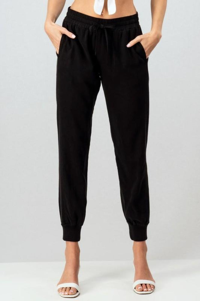Side Elastic Drawstring Pants
