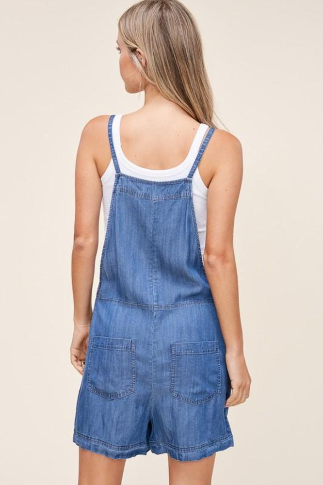 Overalls Romper With Adjustable Tie Straps