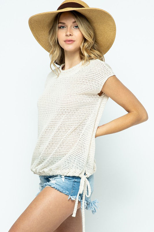 Light Sweater Knit Top | Cream