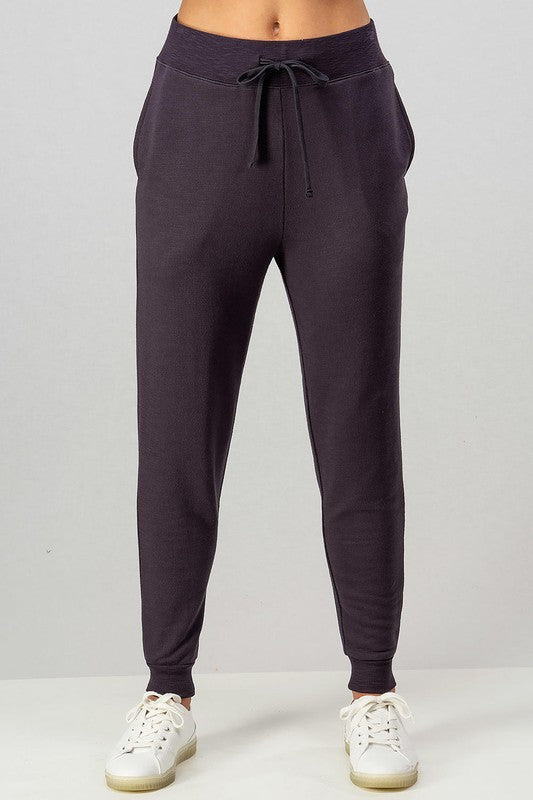 Two-Tone French Terry Joggers | Charcoal