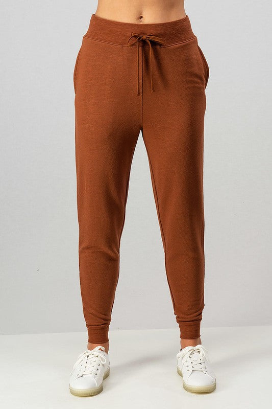 Two-Tone French Terry Joggers | Hazel