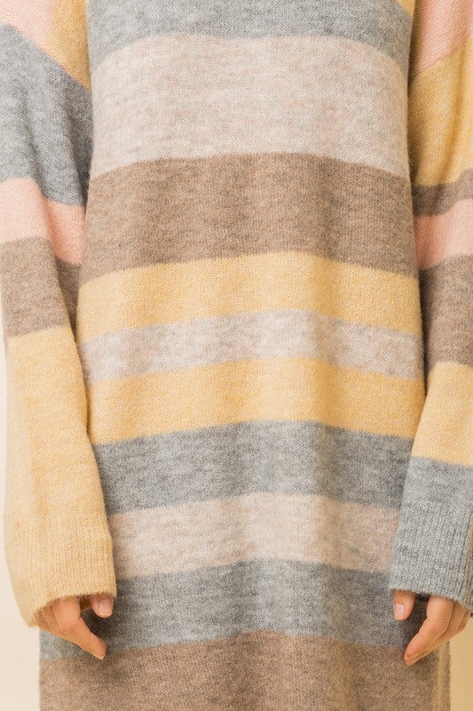 Melange Pastel Stripe Sweater Dress | Melange Multi