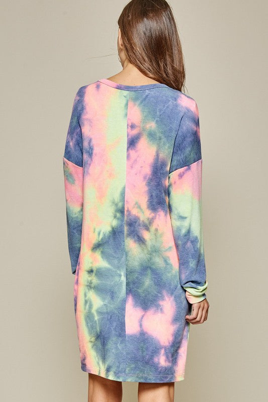 Tie Dye Mini Dress | Multi