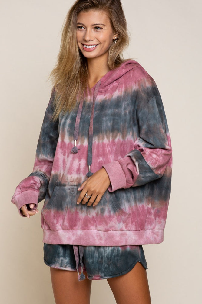French Terry Tie Dye Hoodie | Acai Bowl