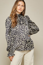 Leopard Blouse | Black
