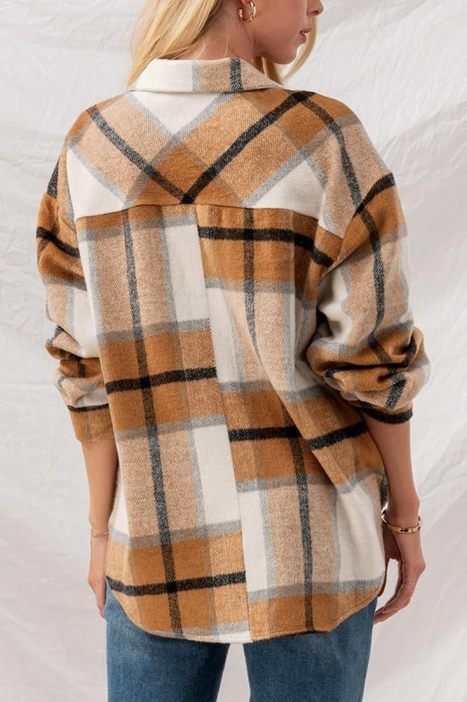 Checkered Oversized Jacket