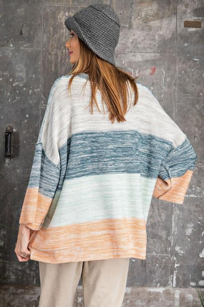 Multi Colored Striped Pullover Sweater