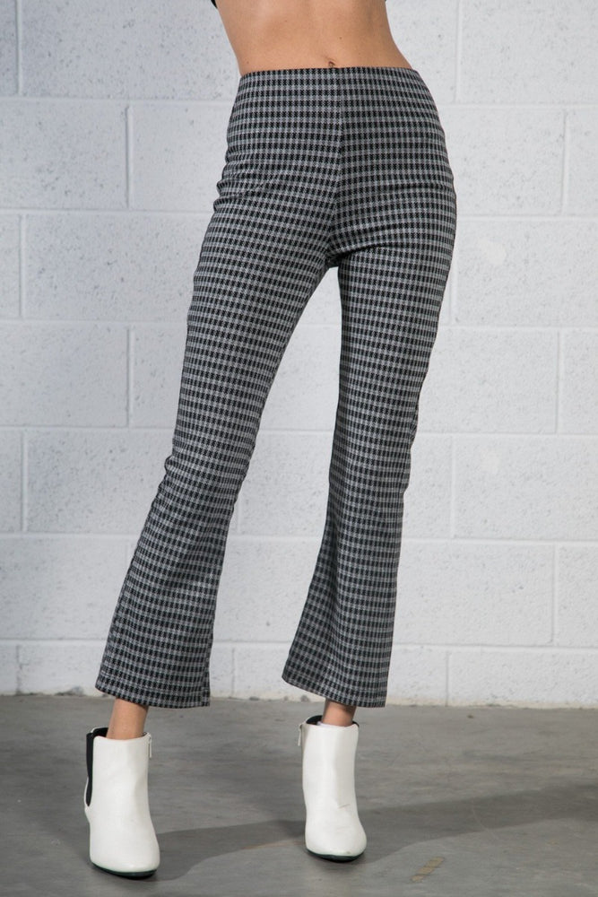 Checkered Cropped Pants