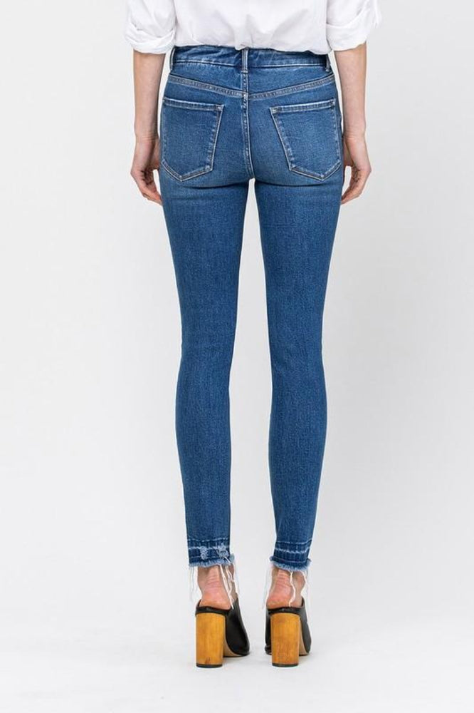 High Rise Ankle Skinny With Let Out Hem