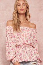 Floral Off Shoulder Peasant Top