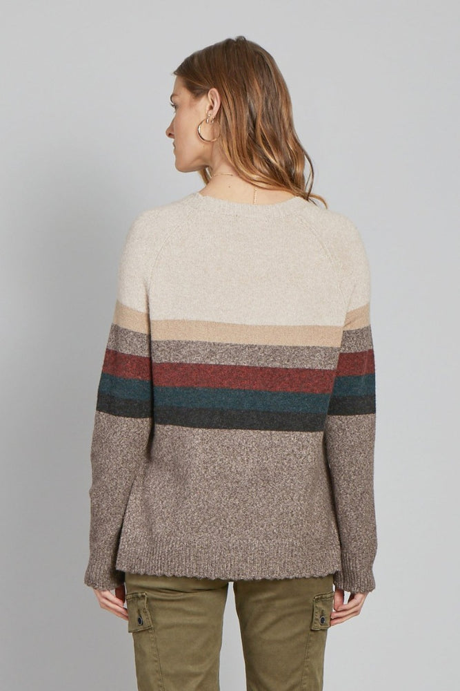 Liza Sweater | Chocolate Stripe