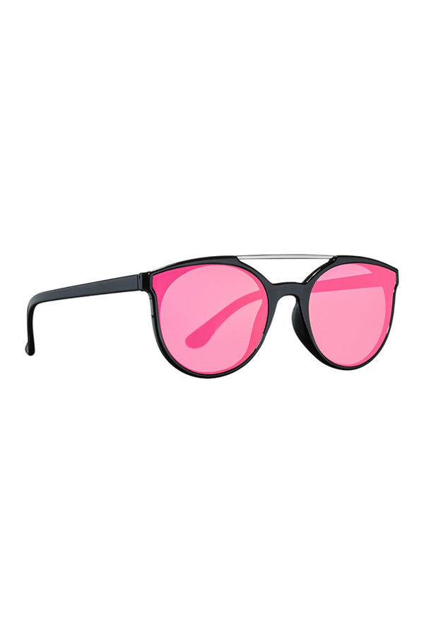 Frameless Sunglasses | Black/Hot Pink