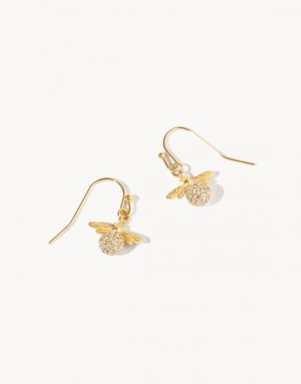 Sparkly Bee Drop Earrings
