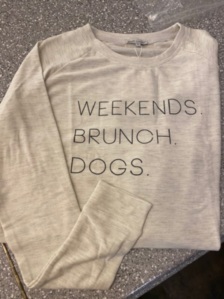 Weekends Sweatshirt | Oatmeal
