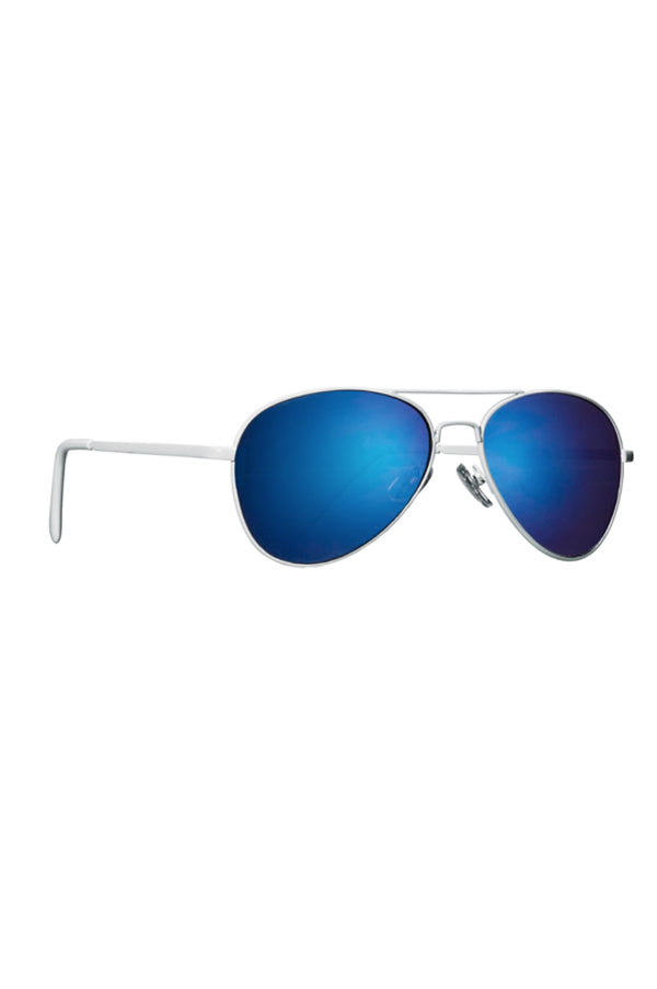 Aviator Sunglasses | White