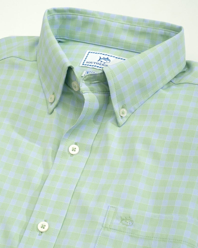 Astern Check Intercoastal Sport Shirt - Green Tea