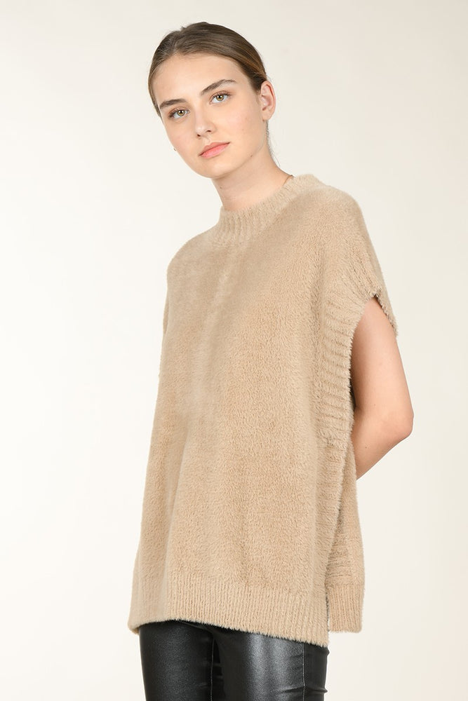 Slip On Sweater | Beige