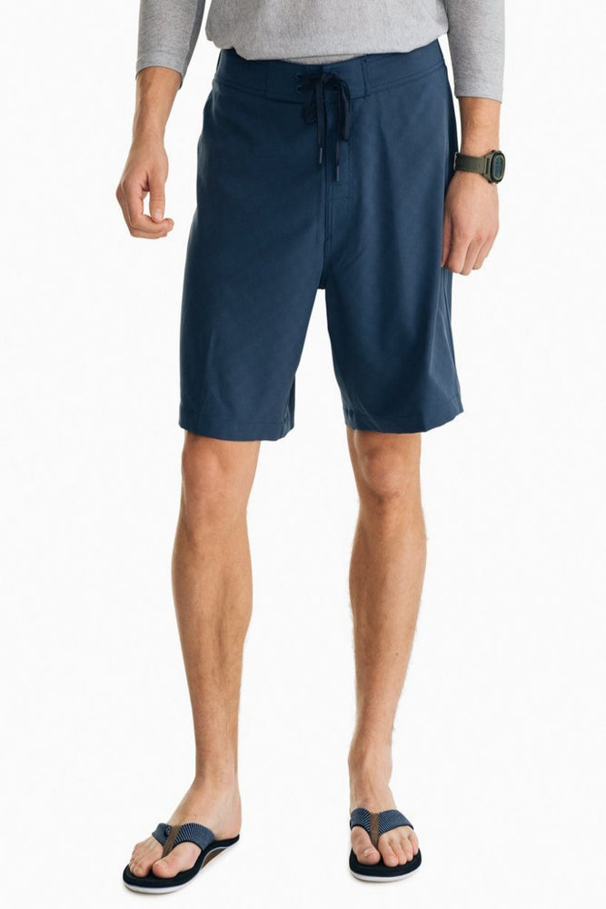 Magic Checkerboard Swim Short | Dark Denim