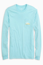 Fish Boat Long Sleeve T-Shirt | Aegean Blue