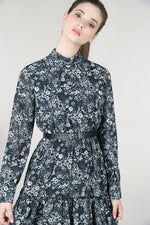 Mini Navy Floral Dress | Fleurette Navy