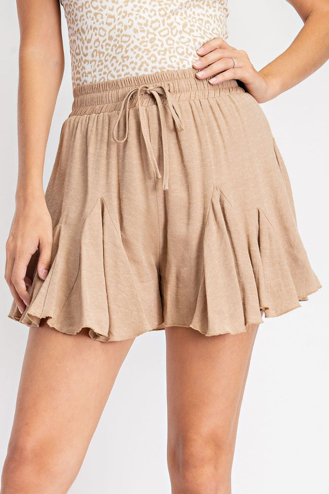 High Waisted Drawstring Skort