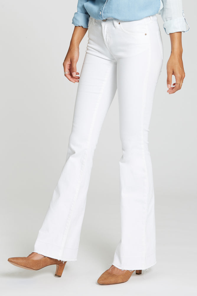 Rosie Flare Jeans | Optic White