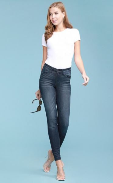 Mid Rise Rayon Skinny
