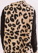 Leopard Fleece Zip Vest