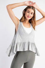 Sleeveless Ruffled Yoga Top