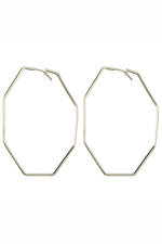 Sheila Fajl Amber Hexagon Hoop Earrings