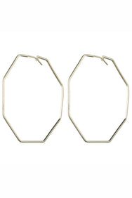 Amber Hexagon Hoop Earrings | Sheila Fajl