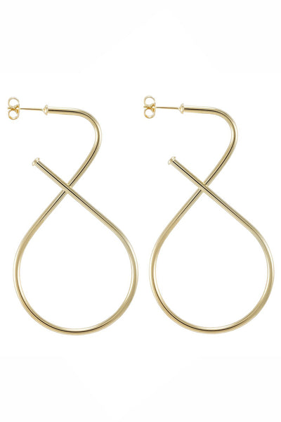 S Hoop Gold Statement Earrings