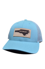 NC Brewed Leather Patch Hat | Smoke Blue