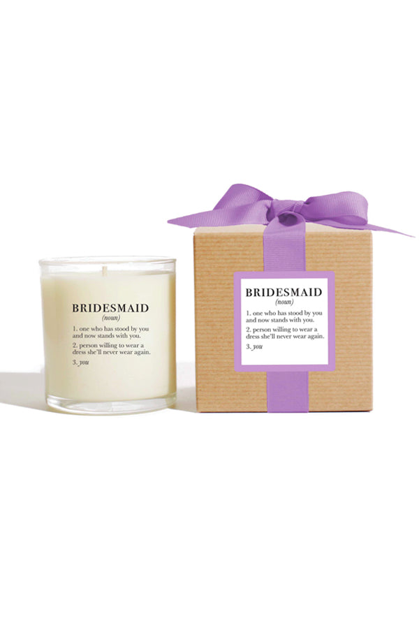 Definition Candle | Bridesmaid