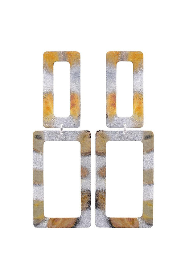 Sheila Fajl Double Rectangle Dangle Earrings