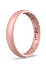 Elements Thin Silicone Ring | Rose Gold