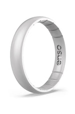 Elements Thin Silicone Ring | Silver
