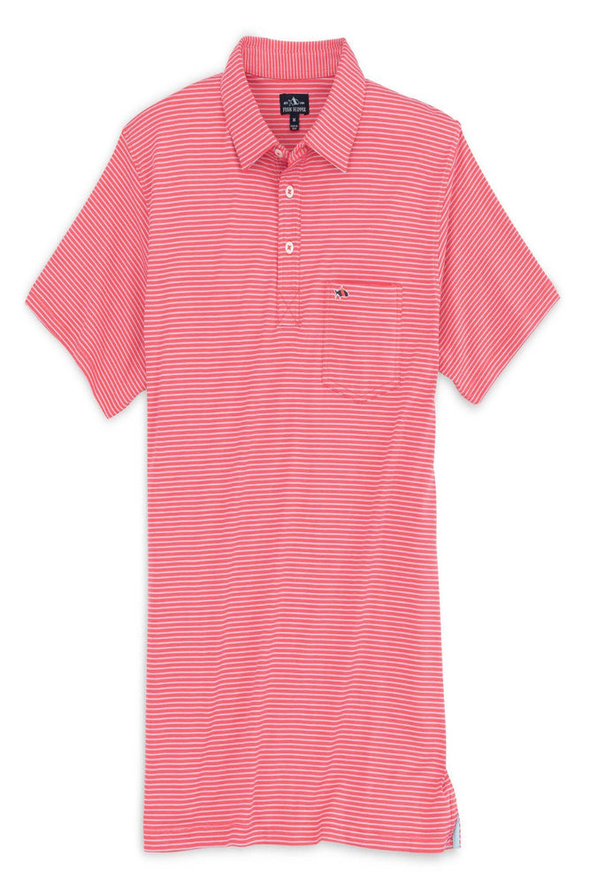 Shellbine Stripe-Polo | Hibiscus