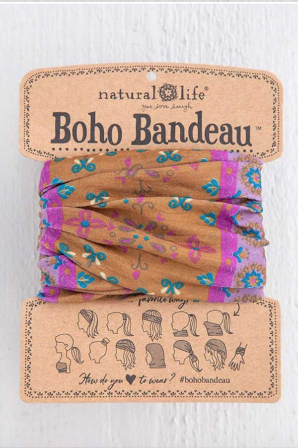 Boho Bandeau | Gold Purple